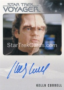 Star Trek Voyager Heroes Villains Autograph Kelly Connell Front