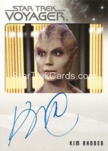 Star Trek Voyager Heroes Villains Autograph Kim Rhodes Jhet'leya Front