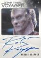 Star Trek Voyager Heroes Villains Autograph Robert Knepper Front