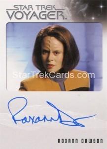 Star Trek Voyager Heroes Villains Autograph Roxann Dawson Front