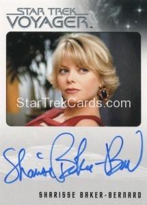 Star Trek Voyager Heroes Villains Autograph Sharisse Baker Bernard Front