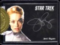Star Trek Voyager Heroes Villains Autograph Silver Signature Jeri Ryan