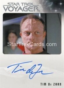 Star Trek Voyager Heroes Villains Autograph Tim De Zarn Front