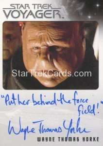 Star Trek Voyager Heroes Villains Autograph Wayne Thomas Yorke Put her behind the force field 21