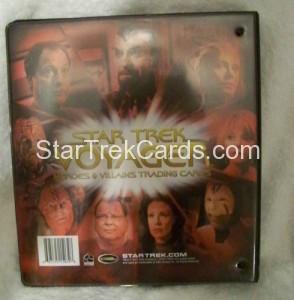 Star Trek Voyager Heroes Villains Binder Back