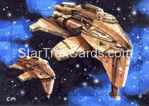 Star Trek Voyager Heroes Villains Chris Meeks Sketch Card 1 Front