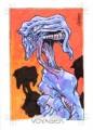 Star Trek Voyager Heroes Villains Daniel Campos Sketch Card 1 Front
