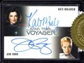 Star Trek Voyager Heroes Villains Dual Autograph Mulgrew and Ryan Front