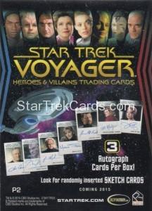 Star Trek Voyager Heroes Villains Promo P2 Back