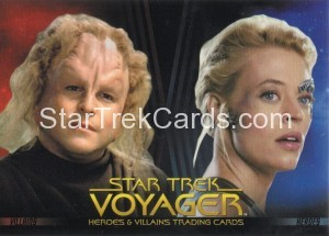 Star Trek Voyager Heroes Villains Promo P2 Front