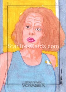 Star Trek Voyager Heroes Villains Roy Cover Sketch Card 1 Front