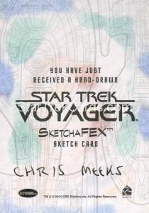 Star Trek Voyager Heroes Villains Sketch Chris Meeks Back