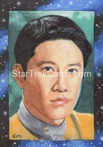 Star Trek Voyager Heroes Villains Sketch Chris Meeks Front 2