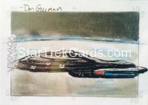 Star Trek Voyager Heroes Villains Sketch Dan Gorman Front