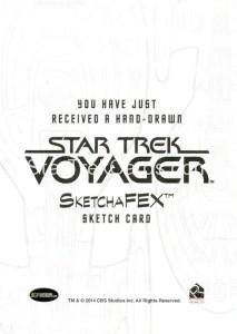 Star Trek Voyager Heroes Villains Sketch Javier Gonzales Back