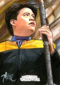 Star Trek Voyager Heroes Villains Sketch Javier Gonzales Front 2