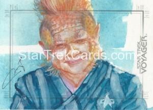 Star Trek Voyager Heroes Villains Sketch Mary Jane Pajaron Front
