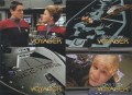 Star Trek Voyager Season One Series One Promo Four Card Sheet Front